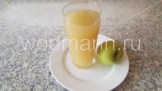 Компот яблочный протертый домашнее питье