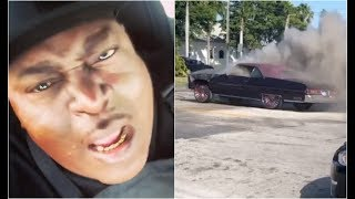 Goons Set Trick Daddy Car On Fire In His Own Hometown Miami Dade County