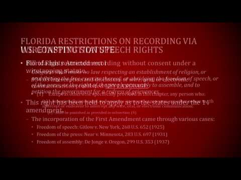 Recording Police In Florida - Florida Legal Protections and Wiretapping Statute - FRI