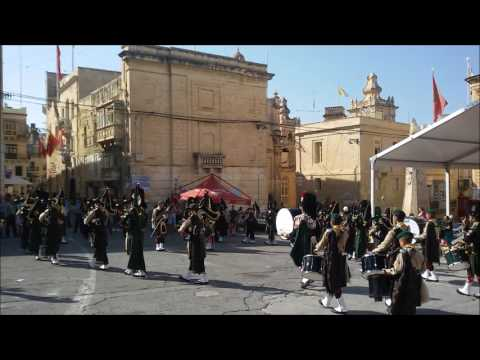 Birgu Fest 2016 Massed Pipes and Drums
