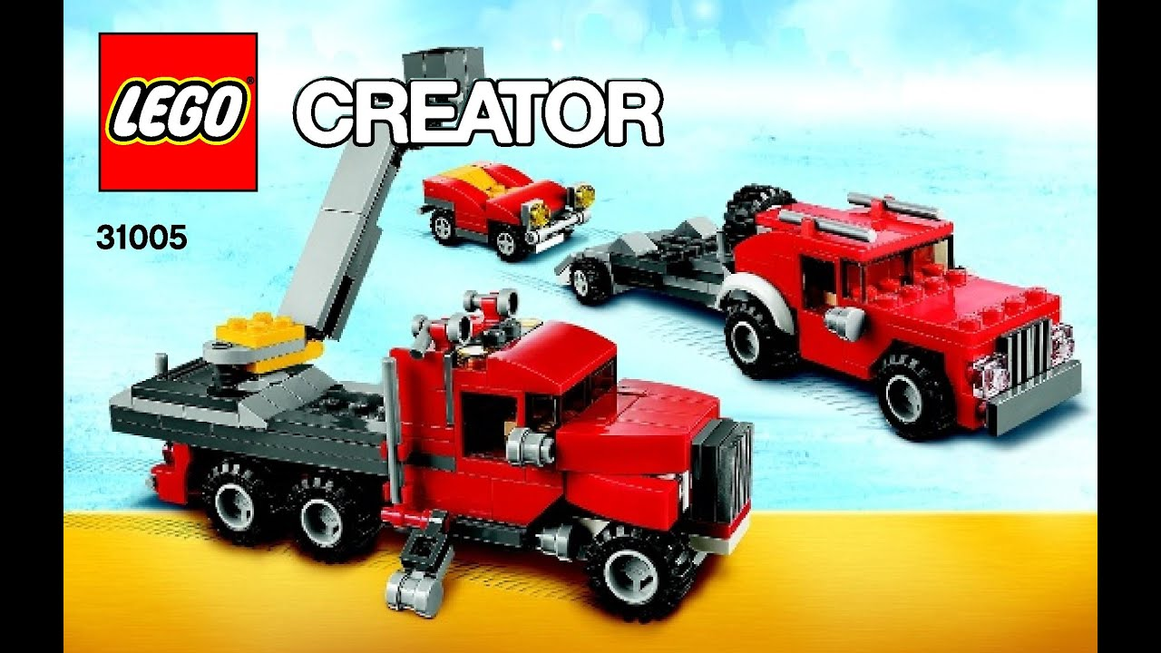 Lego Creator Construction Hauler 31005 3 In 1 Instructions Diy Book