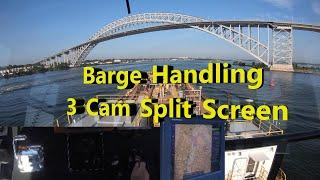 Barge Handling 3 Cam Split Screen