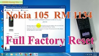 Format full Factory Nokia 105 RM 1134 by Nokia Software Recovery Tool 8.1.25.