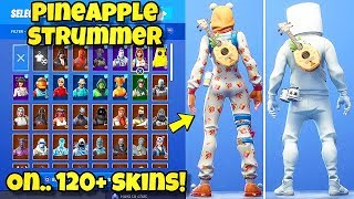 "NOUVEAU ""PINEAPPLE STRUMMER"" BACK BLING Showcased With 120'SKINS! Fortnite Battle Royale STARTER PACK 6"