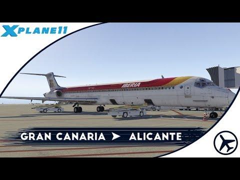 Hoy toca un clásico   LPA - ALC   MD-88 [Rotate]   XPlane 11