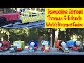 ⭐ Fun Thomas & Friends World's Strongest Engine Competition, Minis Fall onto A Trampoline! ⭐