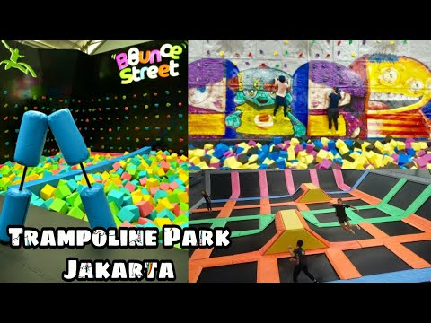3 Trampoline Park Jakarta Terpopuler || Bermain Trampolin di Amped Houbii Bounce Street