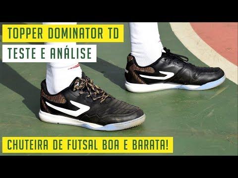 c5522594b4dbc TOPPER DOMINATOR TD - CHUTEIRA DE FUTSAL BOA E BARATA! 💰 - TESTE E ANÁLISE  / REVIEW - YouTube