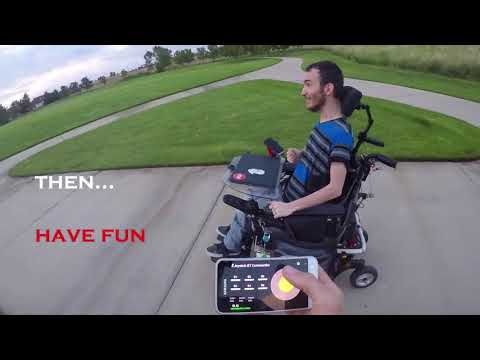 OPEN-SOURCE PROJECT: Remote control a power-wheelchair with a phone!