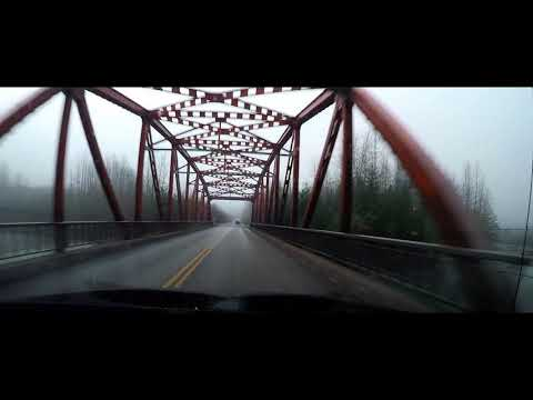 Foggy morning drive to Kitimat British Columbia - 4x speed