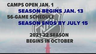NHL Eyeing Mid-January Start Date For 2021 Season