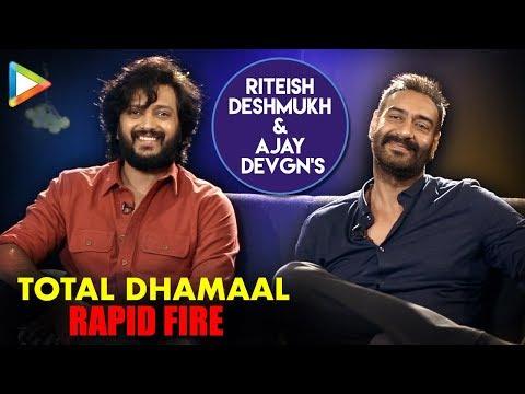 TOTAL DHAMAAL: Ajay Devgn & Riteish Deshmukh's  Rapid Fire On Aamir Khan, Akshay, Ranveer