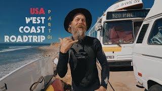 Жизнь в автобусе на берегу океана & серфинг в 53 года. Джефф Каспер. Pacific 420.