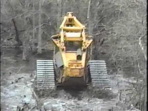Tracked Bell Feller Buncher Swamp Logger