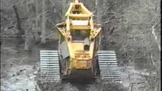 Tracked Bell Feller Buncher swamp logger