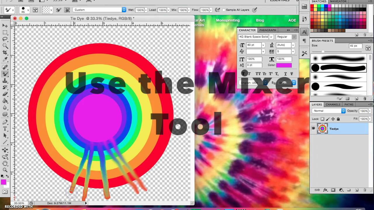 Using blend modes to emulate an image transfer effect