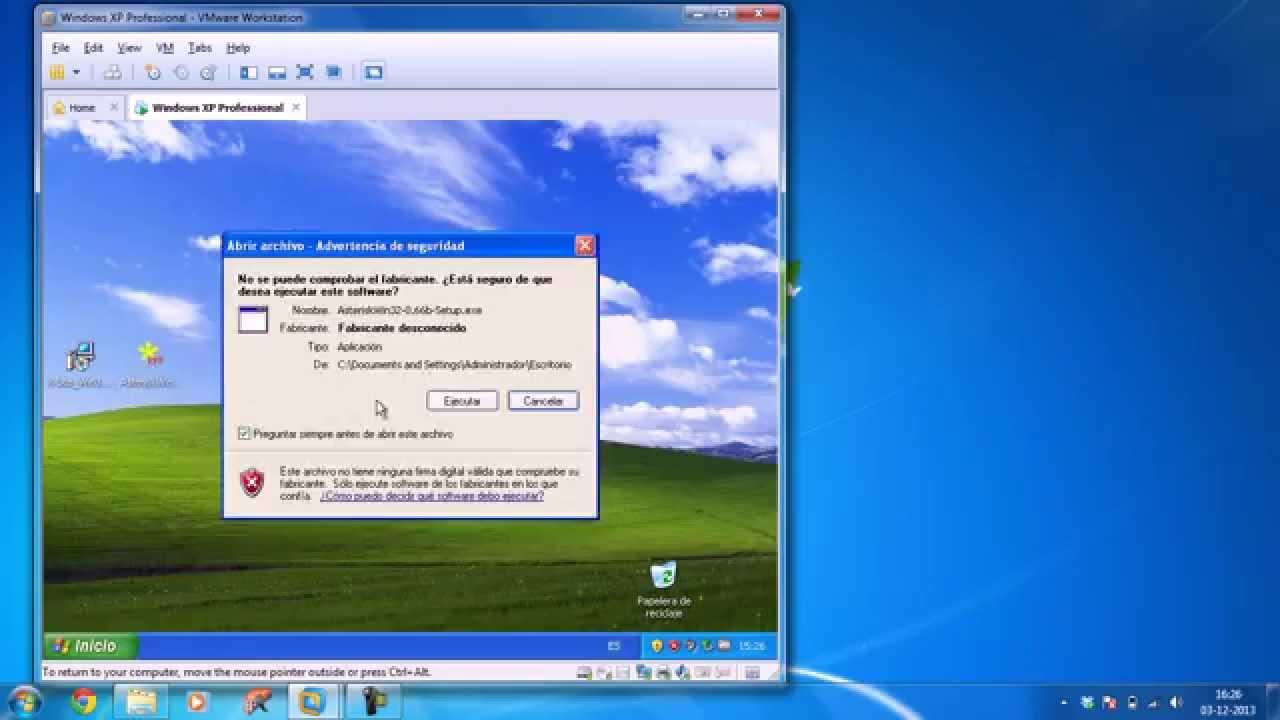 Configuracion de Asterisk en Windows XP con maquina Virtual