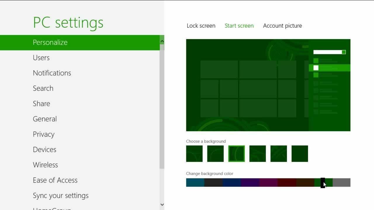 How to Modify Tools in the Start Screen in Windows 8