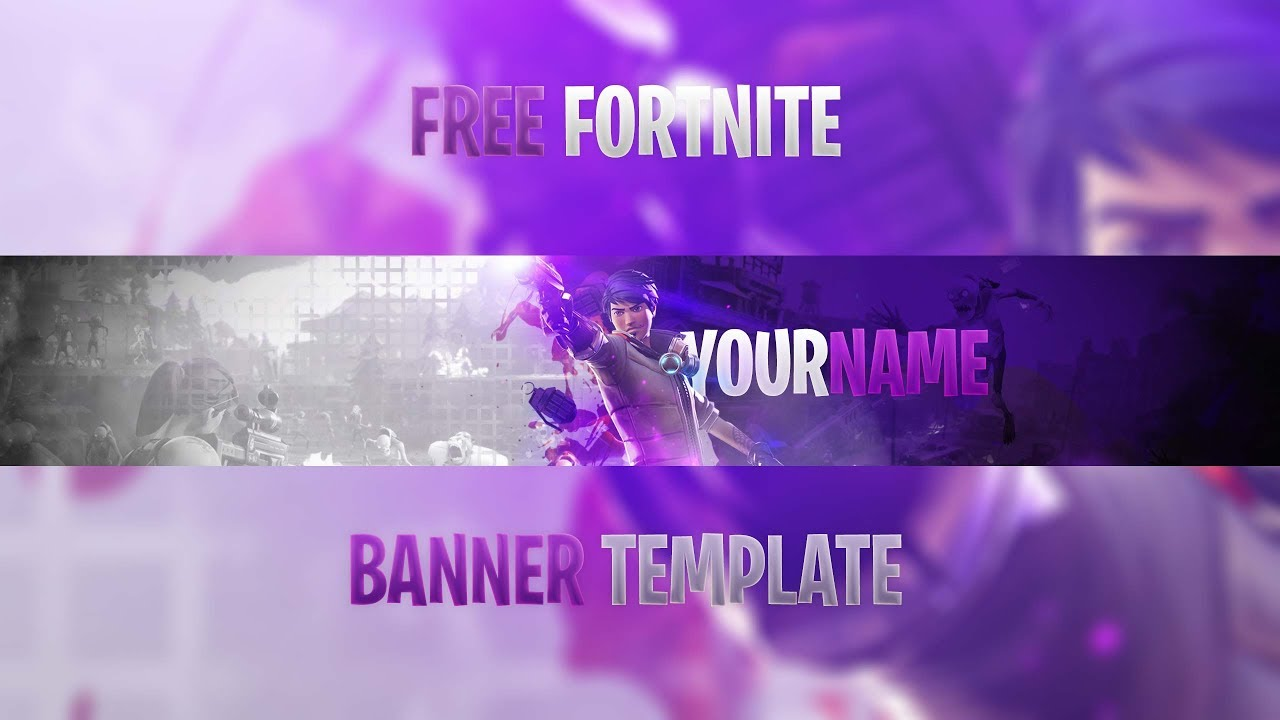 free best fortnite youtube banner template 2018 how to edit