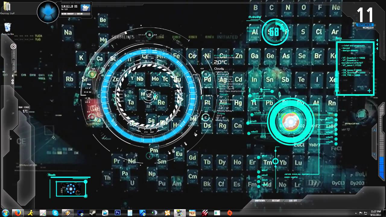 (Iron Man) Jarvis 1.0 Animated Background/Desktop - YouTube