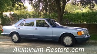 Anodized ALUMINUM RESTORE Demo, Mercedes - FAST & EASY