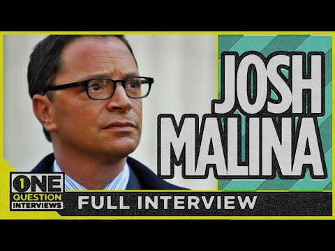 Who made a course-changing difference in Josh Malina's life?