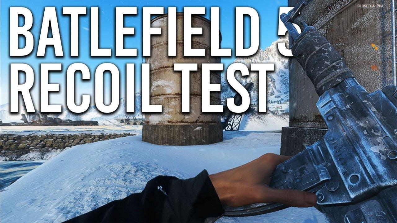 Battlefield 5 Recoil Test - Every Gun in Closed Alpha