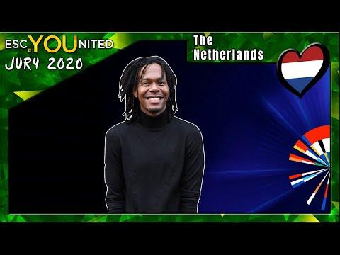"Eurovision 2020 JURY: The Netherlands : Jeangu Macrooy - Grow | ESC United ""Expert"" Panel"
