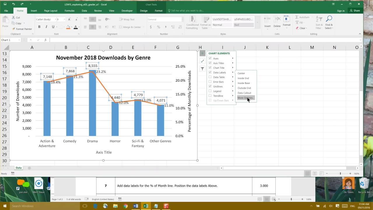 Excel Chapter 3: Charts