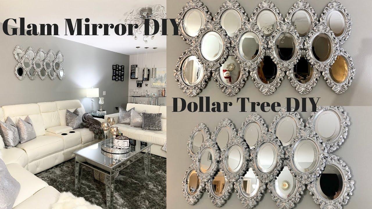 Dollar Tree DIY Mirror Wall Art Best Inexpensive Glam DIY ...