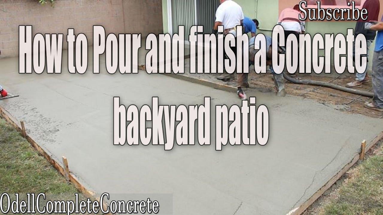 how to pour a backyard concrete patio part 2 diy
