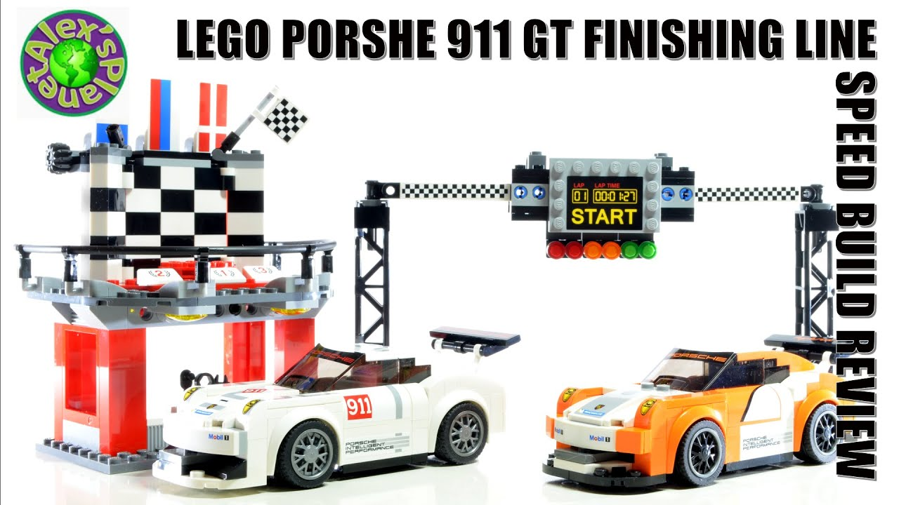 lego speed champions 75912 porsche 911 gt finishing line unboxing speed build review. Black Bedroom Furniture Sets. Home Design Ideas