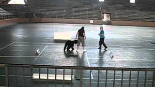 Bouvier Des Flandres, Olive - First Obedience Trial - Hilo, Hawaii - 6.12.11 .wmv