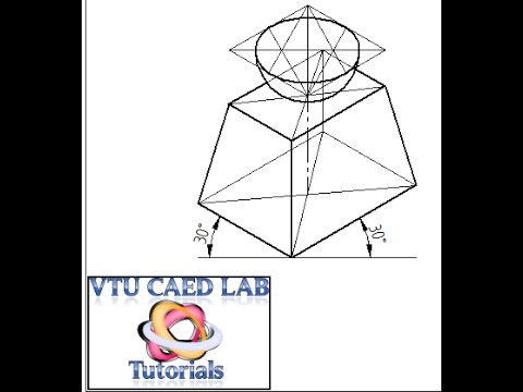 Isometric projection of a frustum of rectangular pyramid
