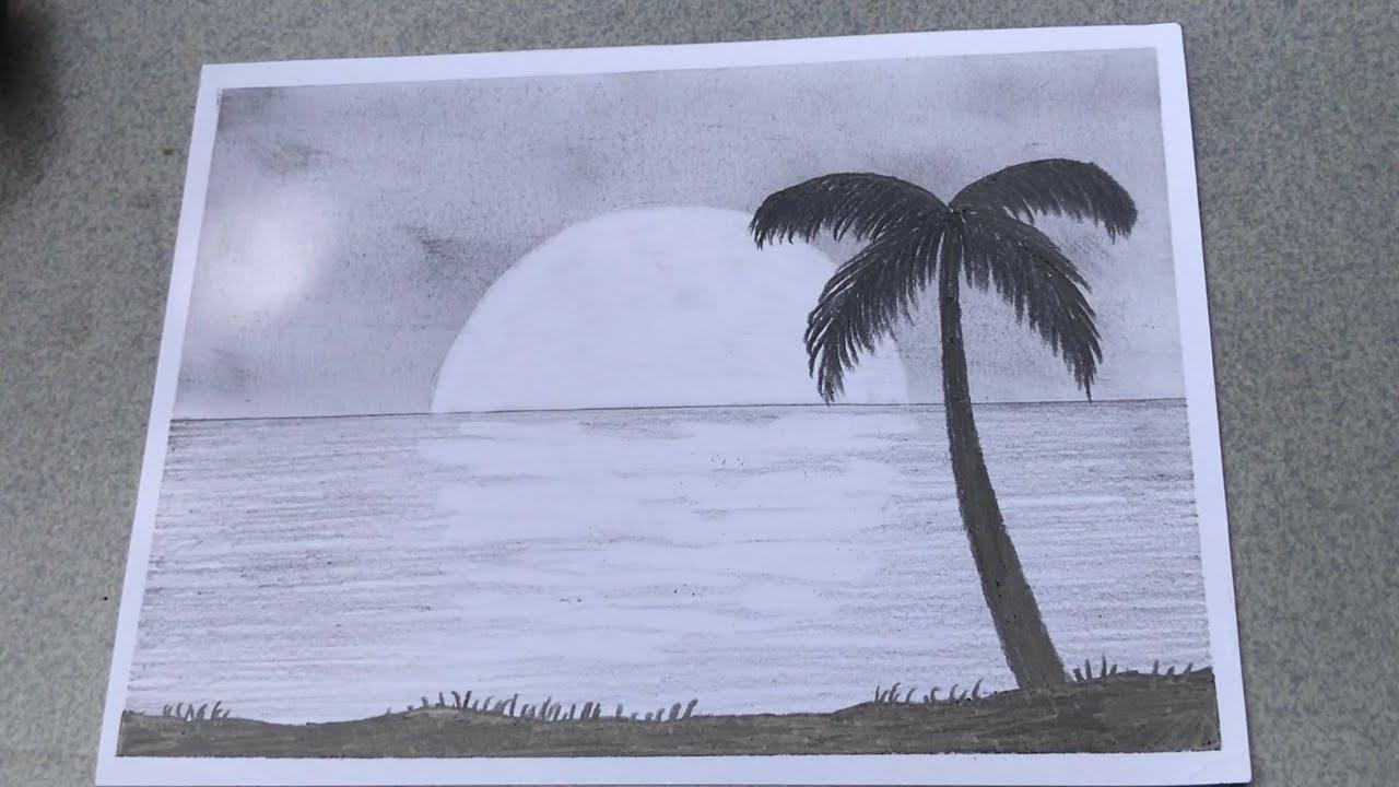 vẽ tranh phong cảnh galaxy chỉ bằng BÚT CHÌ | how to draw scenery with pencil