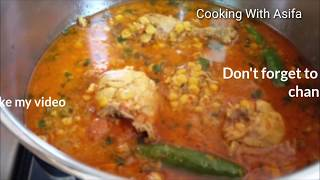 Chana dal ghost curry  restaurant-style chicken chana dal recipe  dal fry Asifa cooking channel