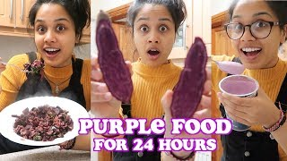 i only ate purple food for 24 hours | clickfortaz