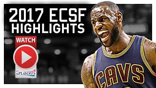 Lebron james ecsf offense highlights vs raptors 2017 playoffs - unstoppable!
