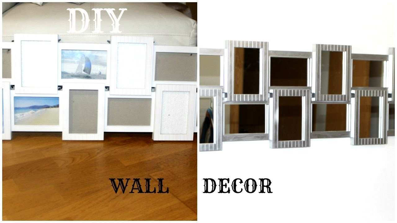 Glam Wall Decor diy easy mirrored wall decor|hanging wall decor ideas|glam it