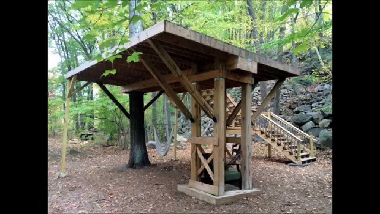 Building A Treehouse Platform In A Single Oak Tree Youtube