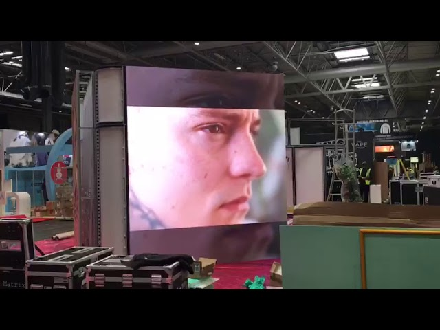 Seamless LED video wall Integrated in to a modular frame by London Audio Visual Ltd