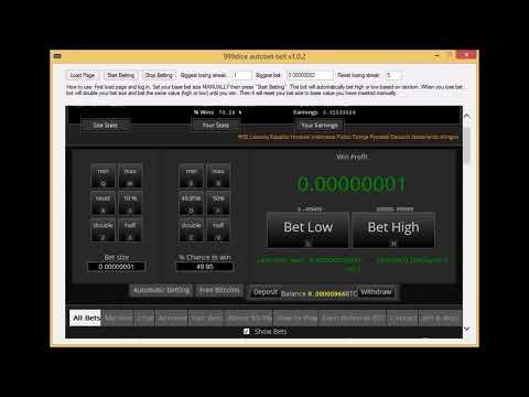 Bitcoin Betting Bot - 999dice