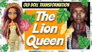 THE LION QUEEN DOLL - AFRICAN TRIBE MONSTER HIGH DOLL REPAINT by Poppen Atelier