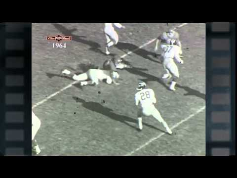 Big Ten Film Vault: 1964 Yearbook - Jim Detwiler Touchdown and Title