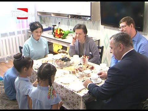 Наталья Комарова побывала в гостях у многодетной семьи
