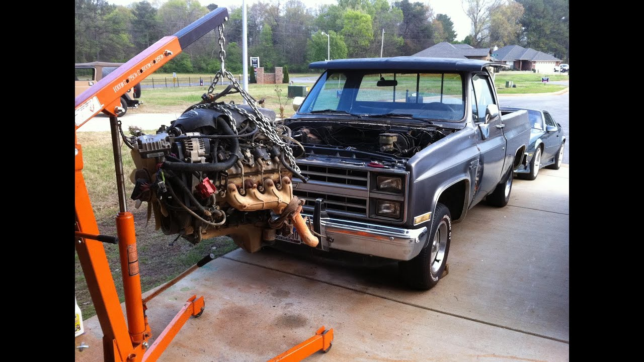84 chevy c10 lsx 5 3 swap with z06 cam parts needed shown truck ls1 youtube