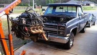 84 Chevy C10 LSx 5.3 swap with Z06 Cam - Parts Needed Shown - Truck LS1