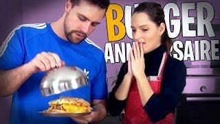 Je cuisine un Giga Burger pour l'anniversaire de Valouzz !