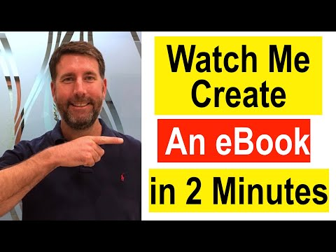 How To Create An EBook In 2 Minutes
