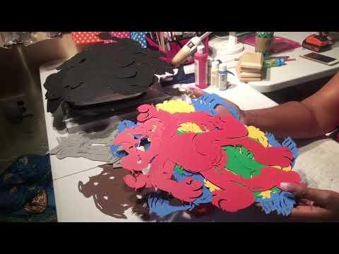 DIY with Cricut Sesame Street Centerpieces